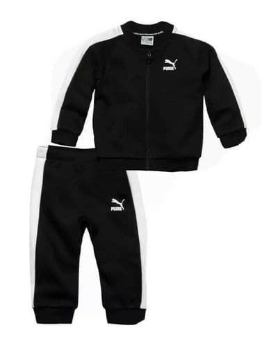 Puma Minicats T7 Baby Toddler Tracksuit Track Top Joggers Black 854455 01